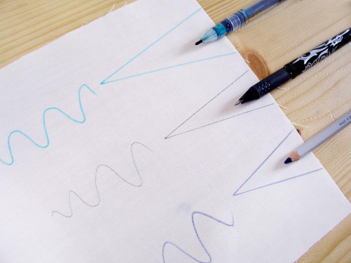 Marcas diferentes de las herramientas de marcado en la costura | Betsy Costura