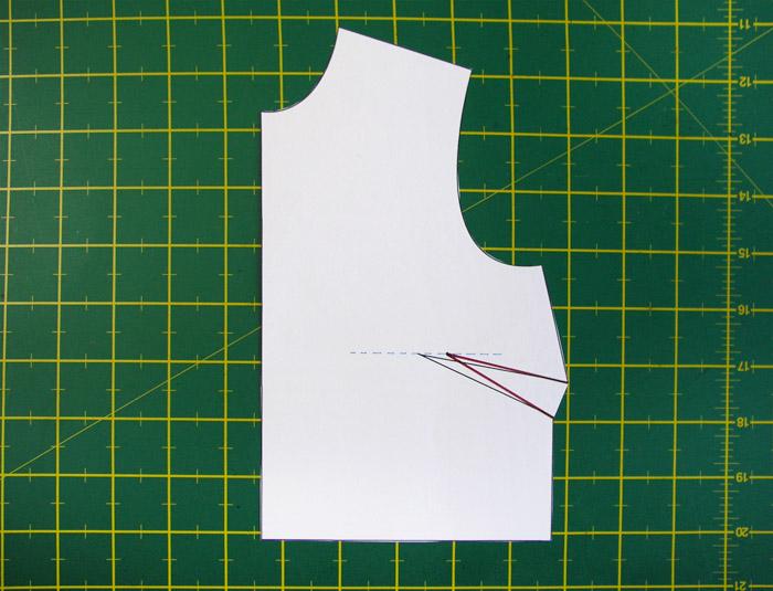 Redibujar las patas de la pinza | Betsy Costura
