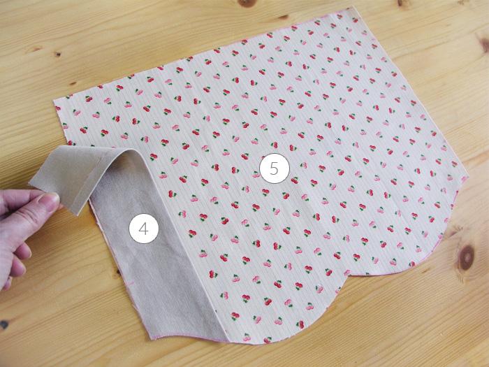 Doblar vista en forro bolsillo | Betsy Costura