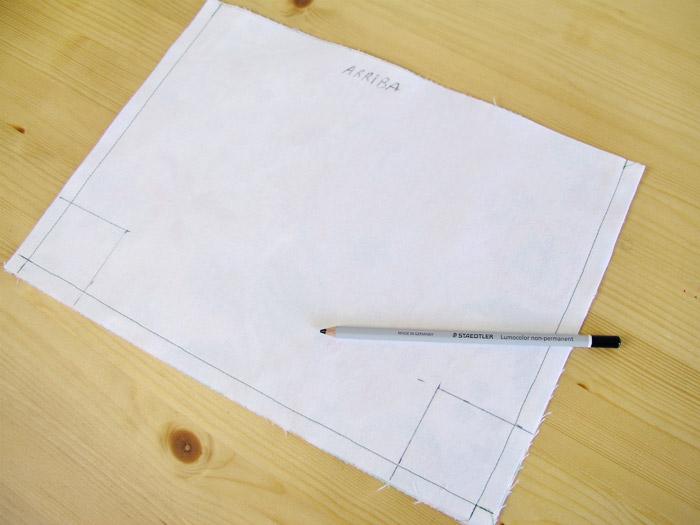 Marcar la base en cada pieza | Betsy Costura