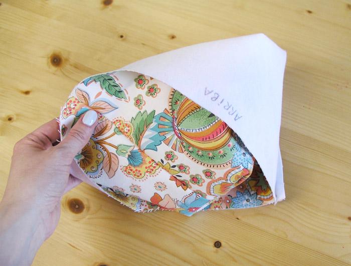 Volver del derecho la cesta de tejido | Betsy Costura