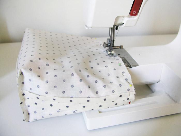 Coser por la parte superior del cesto de tejido | Betsy Costura