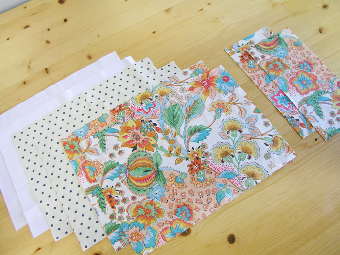 Piezas cortadas para la cesta de tejido | Betsy Costura