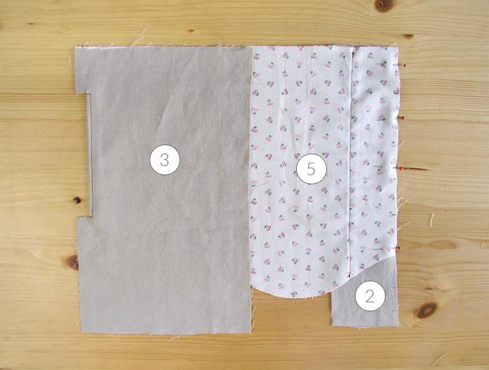 Coocar la parte del trasero al forro del bolsilloHacer un pespunte en la abertura frontal del bolsillo | Betsy Costura