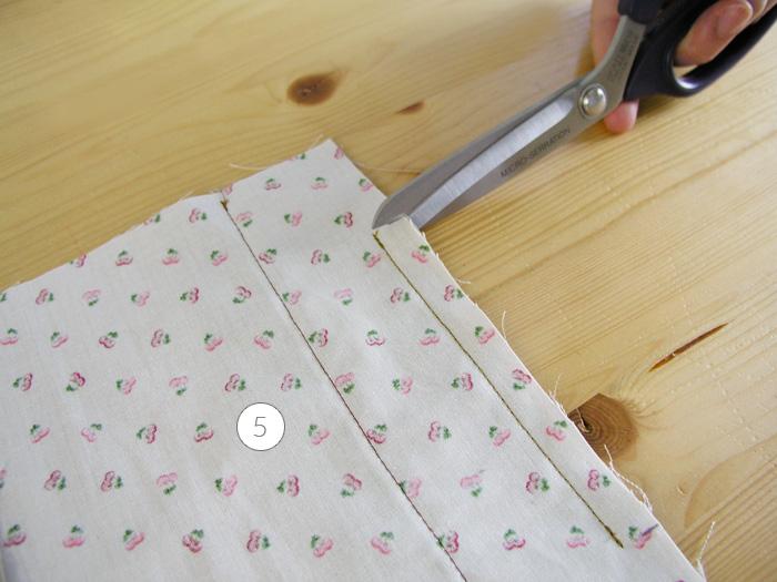 Hacer dos cortes hasta llegar a la costura anterior | Betsy Costura