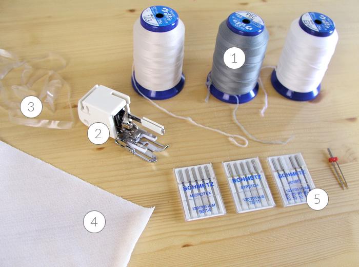 Materiales para coser punto con máquina plana | Betsy Costura
