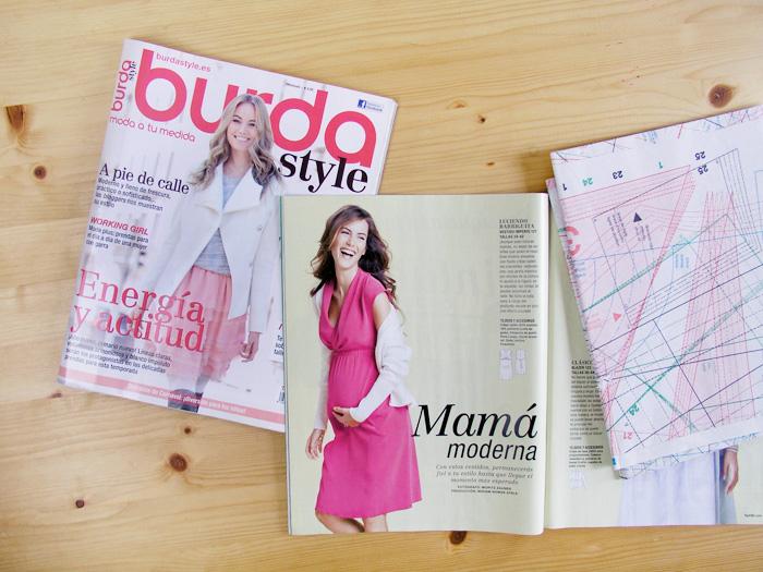 Revista Burda con modelo premamá | Betsy Costura